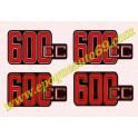 Kit autocollants -stickers bmw 600 cc