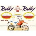 Autocollants - Stickers Aprilia TUAREG rally modèle 125 année 1990
