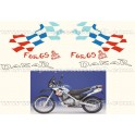 "Kit autocollants -stickers bmw f 650 gs ""Dakar"" de 2002"