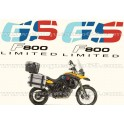 Kit autocollants -stickers bmw 800 gs édition limité