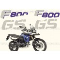 Kit autocollants -stickers bmw 800 gs édition trophy