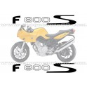 Kit autocollants - stickers bmw F 800 S