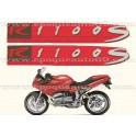 Kit autocollants - stickers bmw R 1100 S année 2003