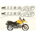 Kit autocollants - stickers bmw R 1150 GS année 1999