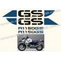 Kit autocollants - stickers bmw R 1150 GS adventure 25 eme anniversaire
