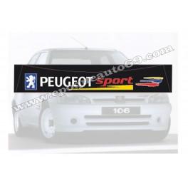 Pare soleil Peugeot 106 Rallye phase 2( noir )