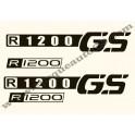 Kit autocollants - stickers bmw R 1200 GS année 2007