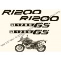 Kit autocollants -stickers bmw R 1200 GS