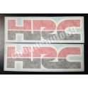 2 x Autocollants - stickers HRC