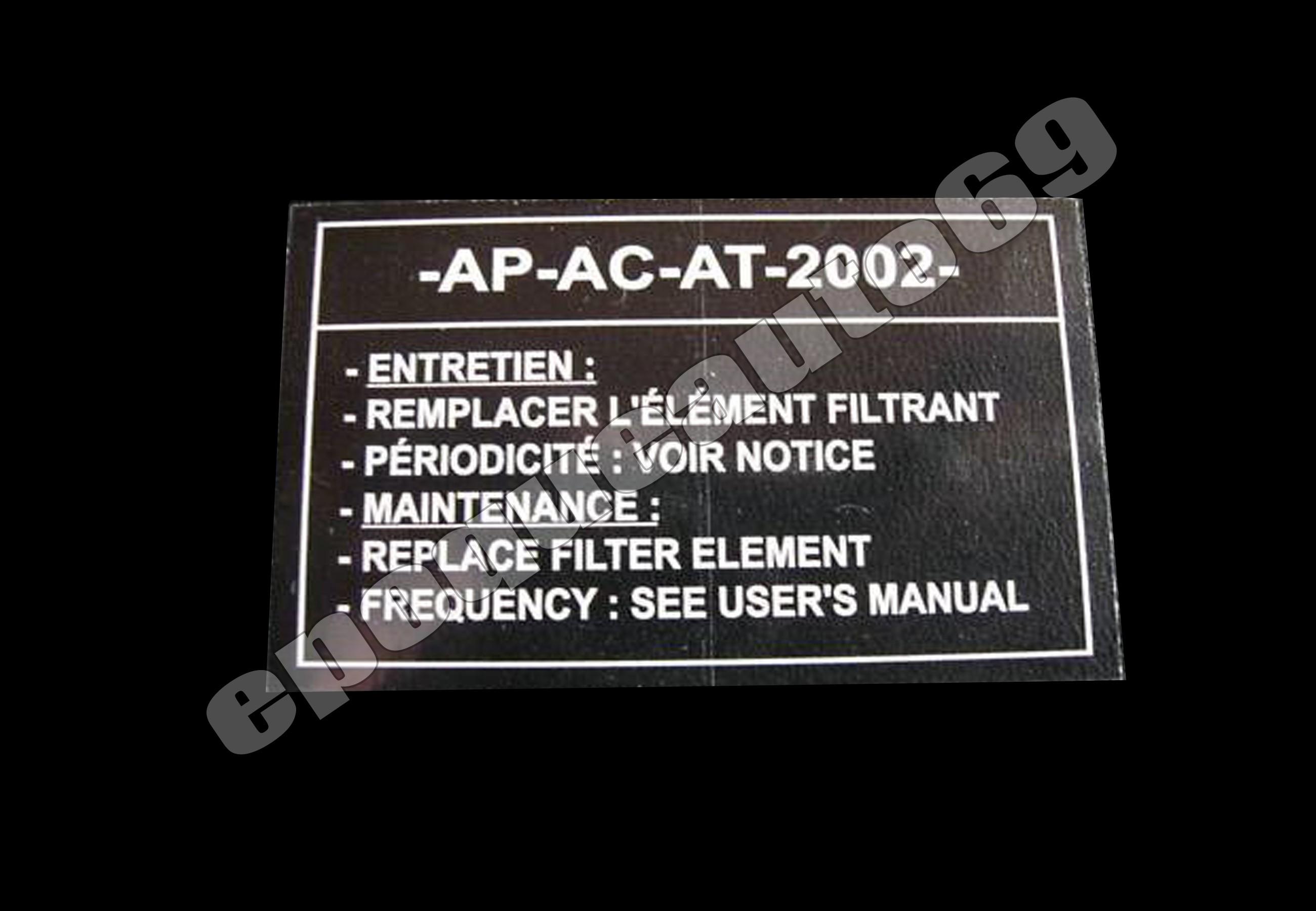 AUTO COLLANT  BOITE A AIR pour PEUGEOT 604