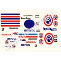 KIT AUTOCOLLANTS STICKERS HONDA CBR 1000 600 REPSOL / SBK