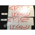 Autocollants stickers HARLEY DAVIDSON AMF SXT 125 ( rouge )