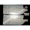 Kit Autocollants stickers HARLEY DAVIDSON AMF SXT 125 ( bleue )
