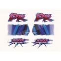 Kit autocollants - stickers suzuki DR 650 E année 1994