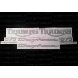 Kit autocollants Stickers triumph daytona triple 675