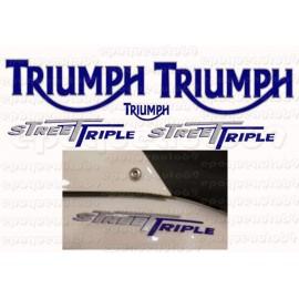 Kit autocollants Stickers triumph street triple 675 année 2008