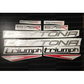 Kit autocollants Stickers triumph daytona 675 R