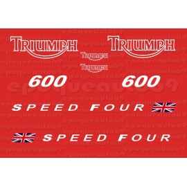 Kit autocollants Stickers triumph speed four 600