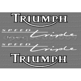 Kit autocollants Stickers Triumph speed triple 900 année 1995