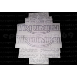 Kit autocollants Stickers triumph speed triple 1050 année 2009