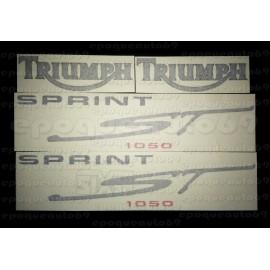 Kit autocollants Stickers triumph sprint st 1050 année 2006