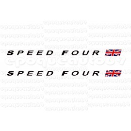 Kit 2 autocollants Stickers speed four