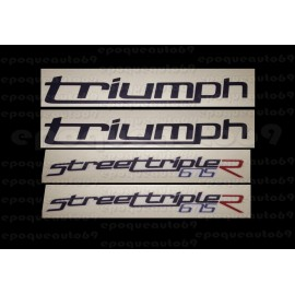 Kit autocollants Stickers triumph 675 street triple r