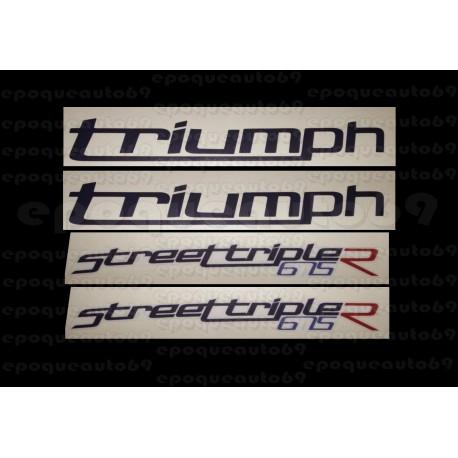 Kit autocollants Stickers triumph 675 street triple r
