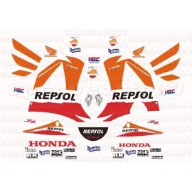 Autocollants - Stickers Honda CBR 954RR Fireblade