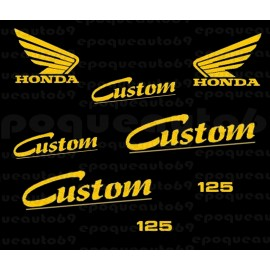 Kit 8 autocollants Stickers HONDA CX 125 Custom