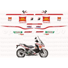 Autocollants - Stickers Honda Integra 700 Repsol