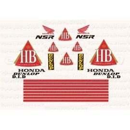 Autocollants stickers HONDA NSR 125 Rothmans