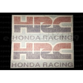 2 Autocollants - Stickers HRC HONDA RACING