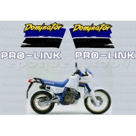 Kit autocollants Stickers Honda Dominator 650 année 1989