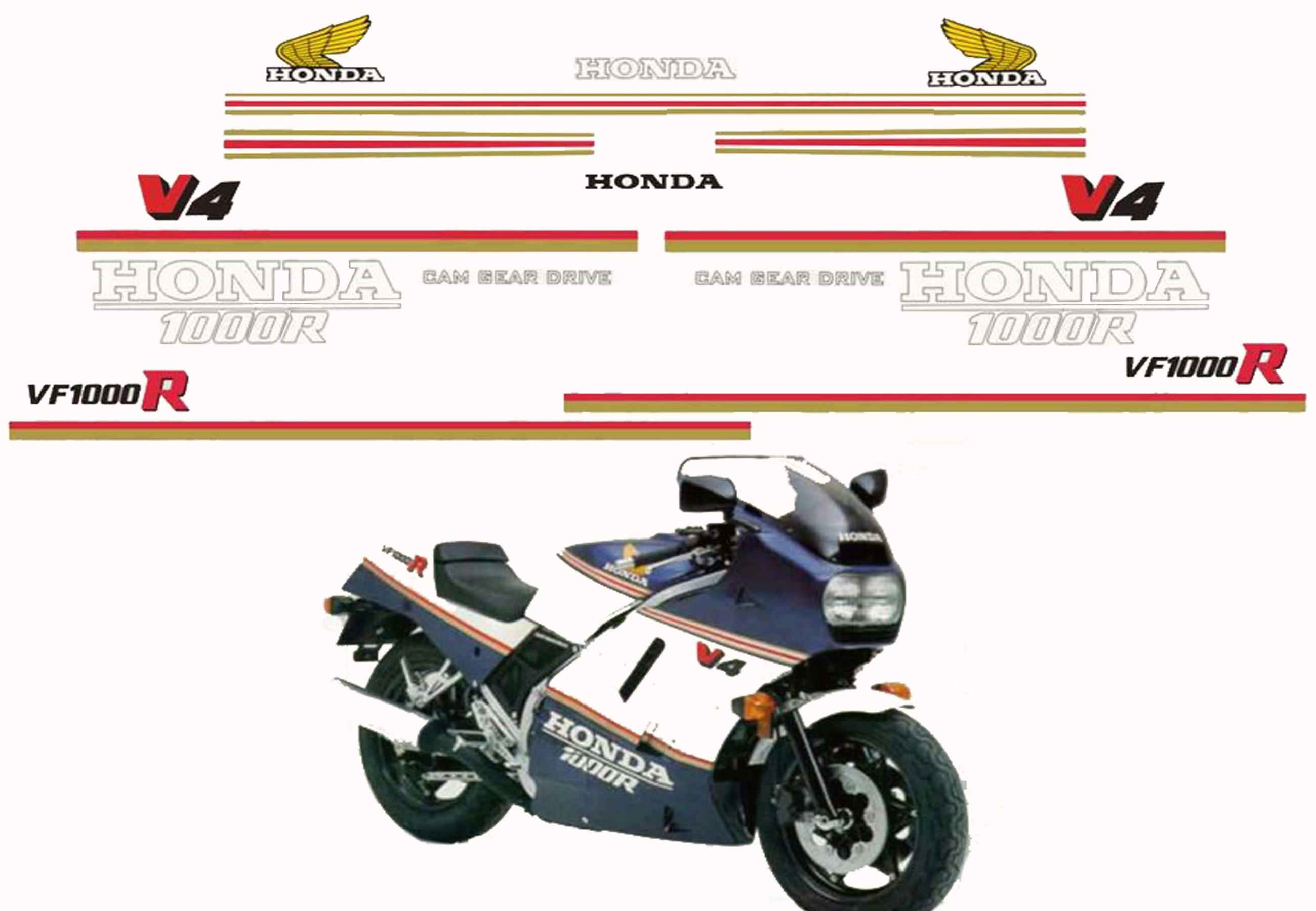 autocollant moto honda vfr 750 id es d 39 image de moto. Black Bedroom Furniture Sets. Home Design Ideas