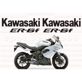 Autocollants - Stickers kawasaki er6 f année 2008