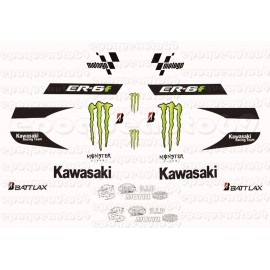Autocollants - Stickers kawasaki er6 f année 2010
