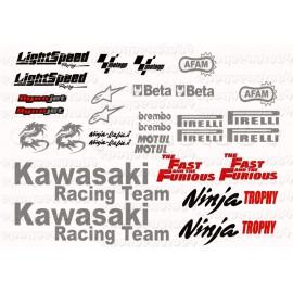 Autocollants - Stickers Kawasaki Ninja