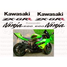 Autocollants - Stickers KAWASAKI ZX-10R Monster année 2008 à 2011