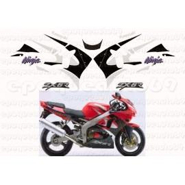 Autocollants - Stickers KAWASAKI Ninja SBK modèle 2013