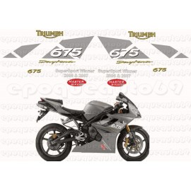 Kit autocollants Stickers triumph daytona triple 675 année 2008