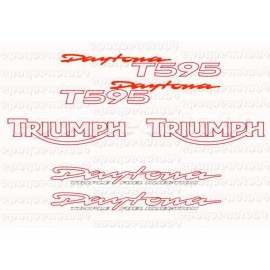 Kit autocollants Stickers triumph daytona T595