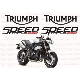 Kit autocollants Stickers triumph speed triple 1050 année 2010