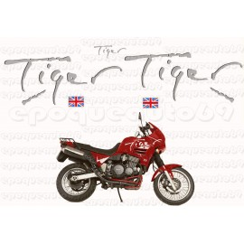 Kit autocollants Stickers triumph tiger 1050 année 2011 icon