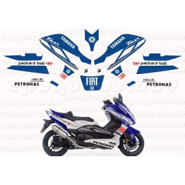 Kit autocollants Stickers Yamaha T-max 1 Abarth