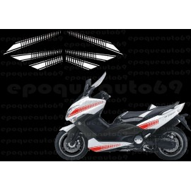 Kit autocollants Stickers Yamaha T-max Abarth 2008 -2010