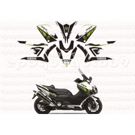 Kit autocollants Stickers Yamaha T-max 530 Vert