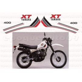 Autocollants stickers Yamaha XT 400 annee 1982