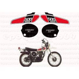 Autocollants Stickers Yamaha XT 500 annee 1976
