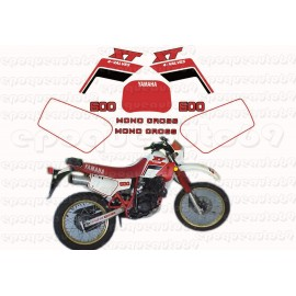 Autocollants stickers Yamaha XT 600 annee 1988